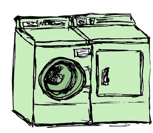 the GREEN CrunchyClean Washer/Dryer