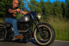 Jimpy on the Bobber (fatboyke (Luc)) Tags: evolution harleydavidson softail hdr bobber vpower