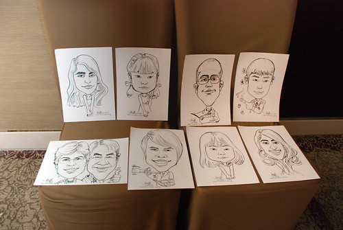 caricature live sketching for wedding dinner 120708  - 61