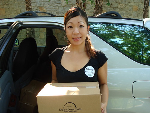 Ashley Volunteering for Meals on Wheels