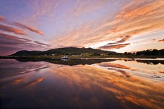 Kilchoan Harbour, Ardnamurchan (Corica) Tags: uk longexposure greatbritain sunset reflection water landscape scotland boat searchthebest harbour britain hill gb ardnamurchan sigma1020mm kilchoan soundofmull corica nikond300 dapagroupmeritaward4 dapameritaward3 dapameritaward1 dapameritaward2 ormsaigmore
