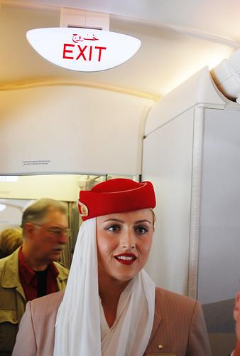 Emirates A380 at SFO