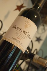Mouton Cadet Bordeaux, circa 2008 (the year consumed, not the vintage)