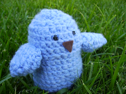Blue Bird Amigurumi