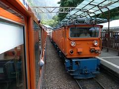 黒部峡谷鉄道のトロッコ電車
