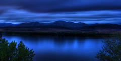 Sapphire (Thad Roan - Bridgepix) Tags: blue lake nature water rain clouds landscape colorado dusk overcast denver explore chatfield sapphire littleton 200808
