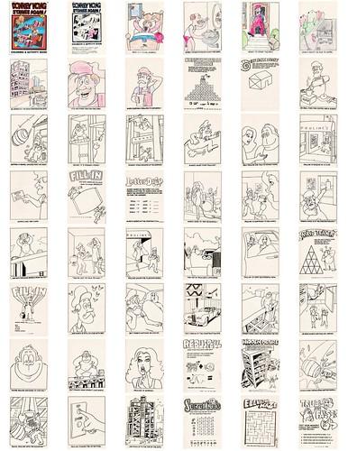 Donkey Kong Strikes Again Coloring & Activity Book (1983)
