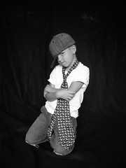 Gangsta' Cody (Casey Keith) Tags: boy portrait hat blackwhite child tie naturallight