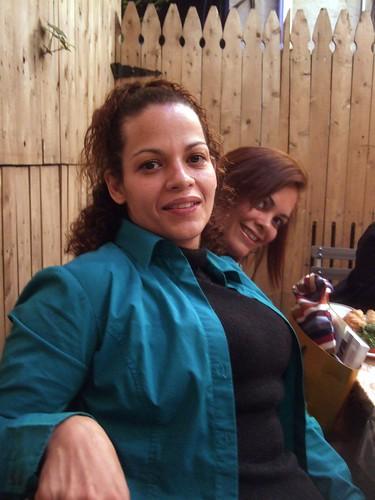 Norma and Marta at Knit Nite