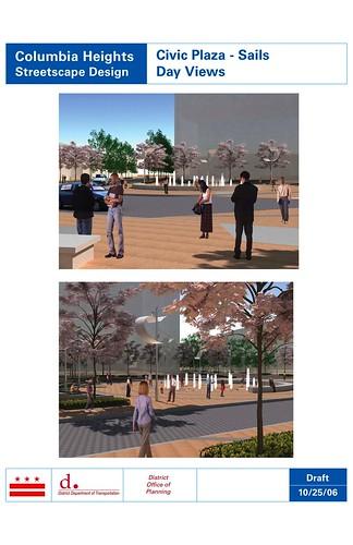 Streetscape Columbia Heights-plaza