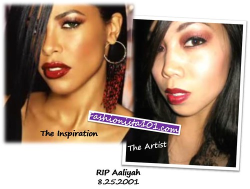 makeup tutorial - aaliyah memorial - by judy by you.