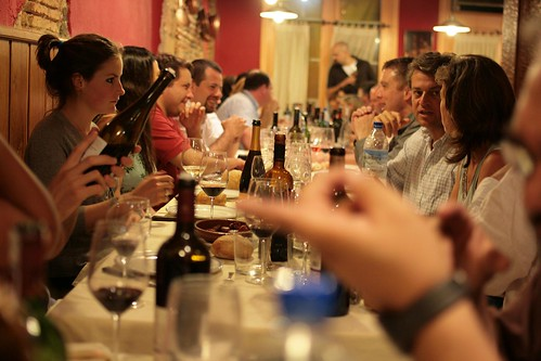 What wine bloggers do when they get together