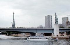 Paris - Statue of Liberty (roger4336) Tags: paris france seine eiffeltower eiffel replica toureiffel statueofliberty 1973 bartholdi