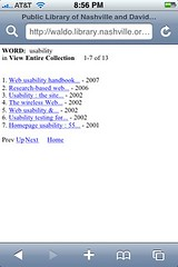 Nashville Public Library catalog - search results
