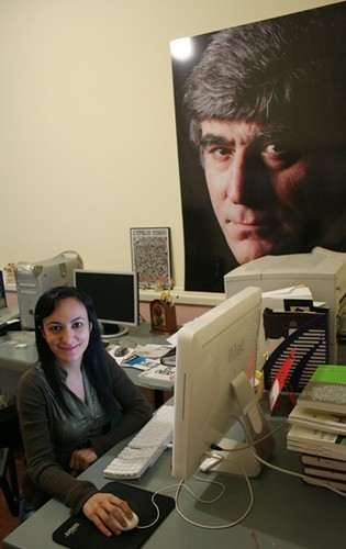 Hrant Dinks Portrait in the Agos Office