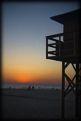 Playa de Conil (asier_co) Tags: canon atardecer eos torre cadiz puestadesol conil 30d