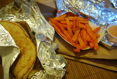 Gyro and sweet potato frites (megbee) Tags: food gyro sweetpotatofrites