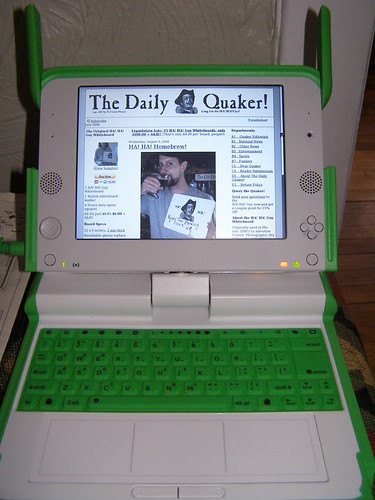 Give me some sugar -- OLPC