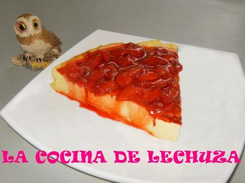 Cheesecake-porción fresas