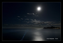 Harbor Cala Ratjada Mallorca at night (m@thias) Tags: ocean travel vacation moon bulb night clouds photoshop canon eos long exposure tripod tokina mallorca cala ratjada 400d