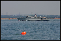 HMS Cattistock (M31) (leightonian) Tags: uk island boat ship unitedkingdom trafalgar isleofwight solent gb naval isle cowes wight royalnavy trafalgar200 t200 fleetreview buoyant