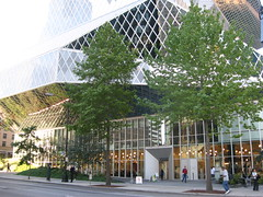 Seattle Public Library (javacolleen) Tags: seattle public exterior library architcture libslibs librariesandlibrarians