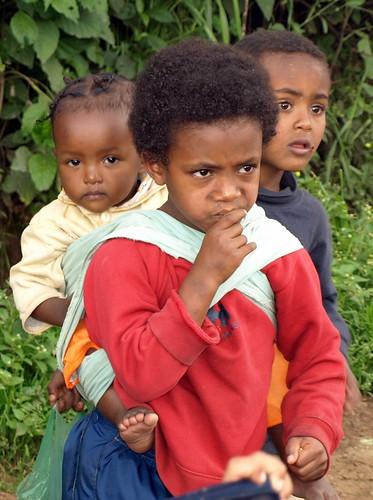 Niños en Kolfe Keranyo (Addis Abeba)