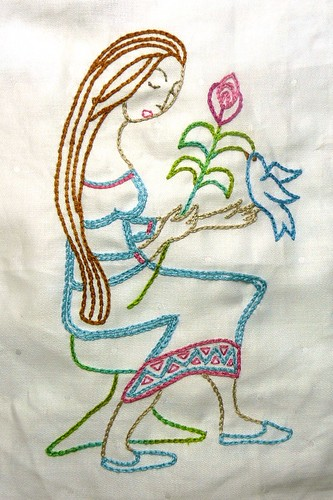 Virgo Embroidery