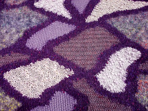 purple intarsia fabric