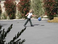 Christy playing basketball