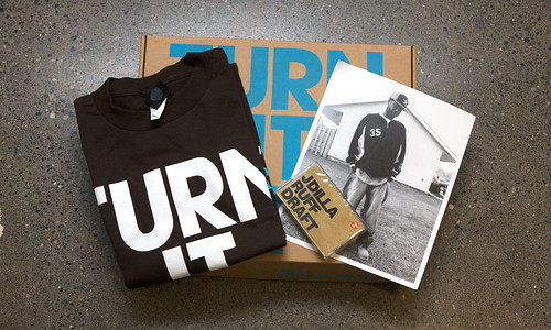 Stones Throw TURN IT UP! (Ruff Draft Cassette & Tee - Brown)