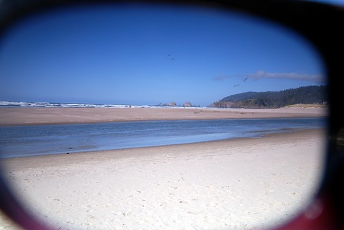 Cannon Beach Through Sunglasses
