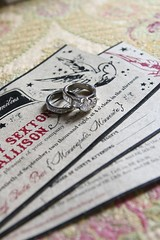 Beautiful rings and AMAZING invitations!!!