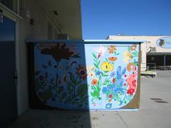 in the garden mural
