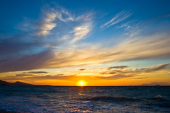 A Heart in the Sky (esther**) Tags: blue autumn light sunset sea vacation sky sun sunlight fall love beach water colors yellow clouds island bravo holidays view heart air september greece greekislands rhodes interestingness165 interestingness133 aheartinthesky
