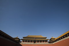 Forbidden City & rare blue sky (nataliebehring.com) Tags: china travel blue history tourism architecture outdoors site tour treasure air chinese beijing atmosphere bluesky palace unesco worldheritagesite clear pollution residence gugong emperor qingdynasty chinesehostory