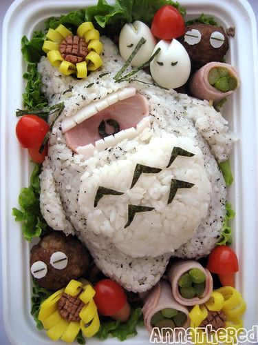 Bento of sleeping Totoro! by kickintheheadcomic.