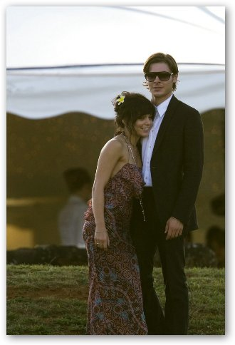 Zac Efron and Vanessa Hudgens at Wedding