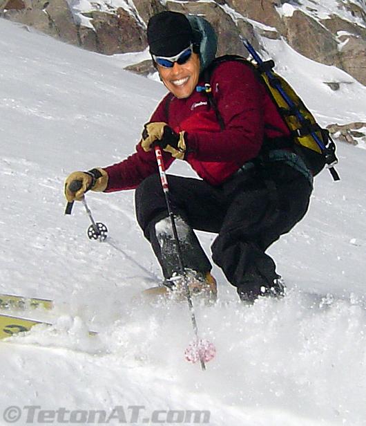 Barack Obama skis