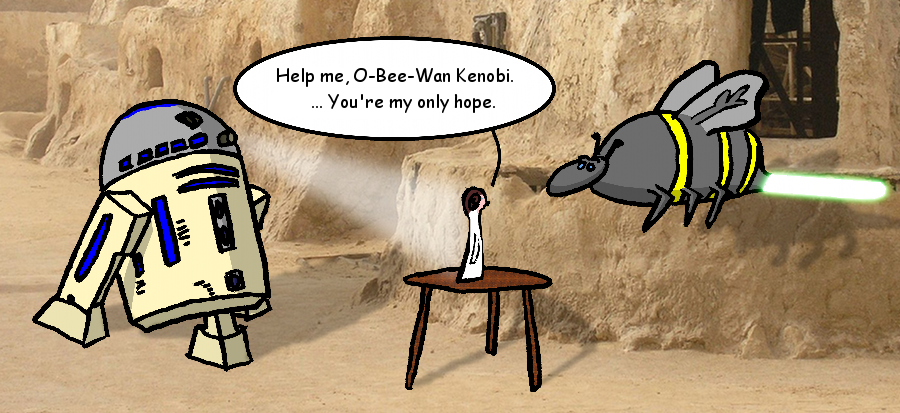 Help me, O-Bee-Wan Kenobi