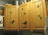 cabinets (aliciaphoto) Tags: wood birds silhouette cutout paper blog blogspot contact cabinets kithen apartmenttherapynewyork apartmenttherapyny sunnydayhappyface
