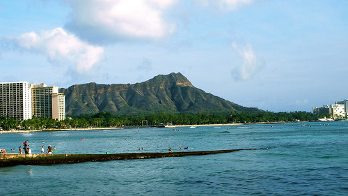 Diamond Head from Pink Palace