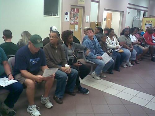 Voting line pre-7am