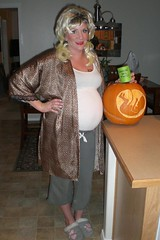 Halloween 2008 (McClaran) Tags: halloween tattoo pumpkin costume pregnant belly redneck 2008 uterus womb whitetrash inutero