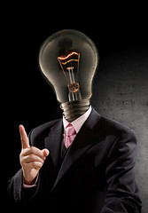 """Think wisely"" (mad_airbrush) Tags: portrait me bulb photoshop eos flash think freaky ps brain suit 5d speedlight softbox ef2470mmf28lusm strobe 2470mm 430ex strobistcom strobist 580exii"