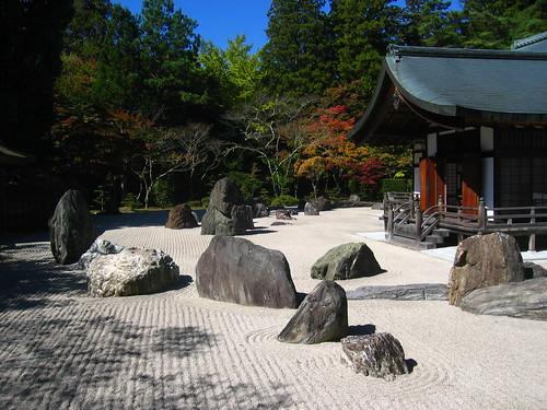 Zen garden in Kōyasan