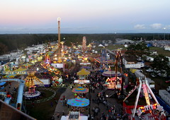 Mobile - Greater Gulf State Fair - Midway Aerial (jared422_80) Tags: carnival wheel mobile fairgrounds al gulf state alabama fair ferris aerial rides greater midway overhead