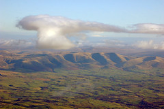The Howgills from 6,000 feet above Windermere