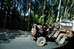 On the way.... (MelindaChan^^) Tags: china road people work way drive mel xinjiang  uyghur cart melinda turpan folks  chanmelmel  melindachan