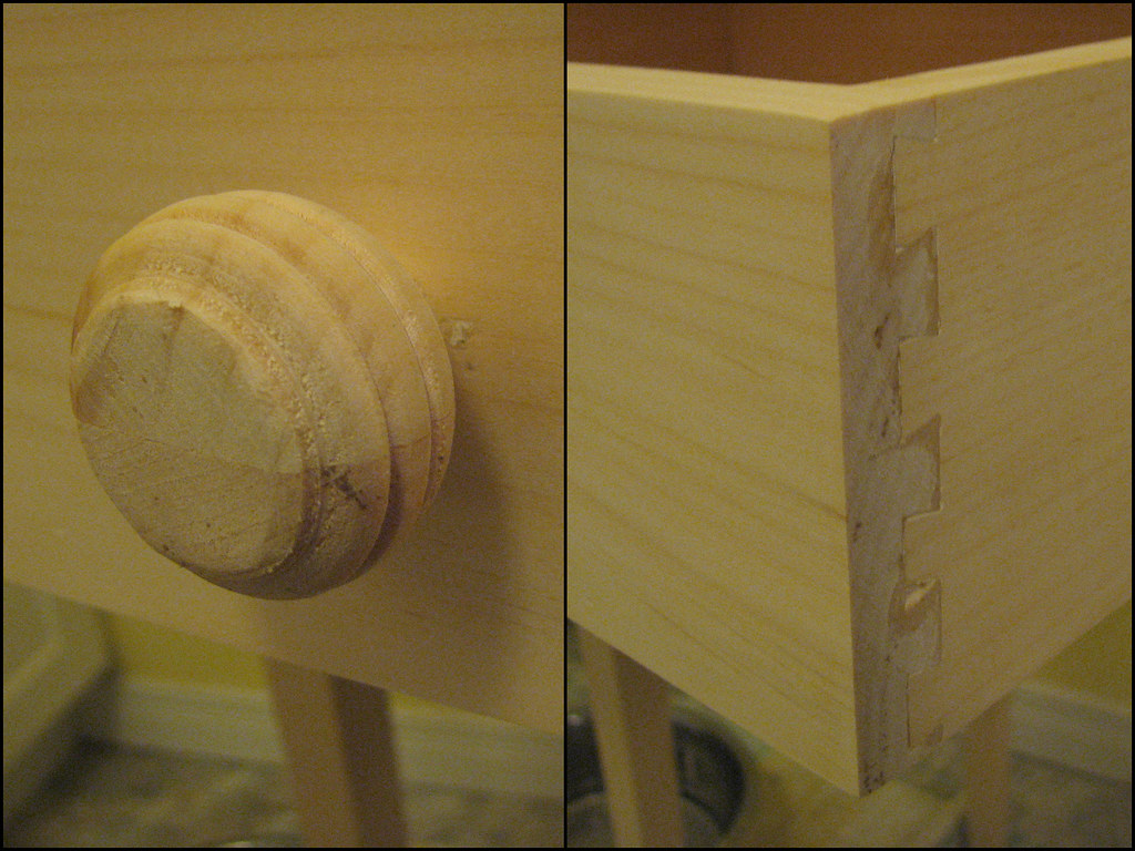 Shaker-style table (details)